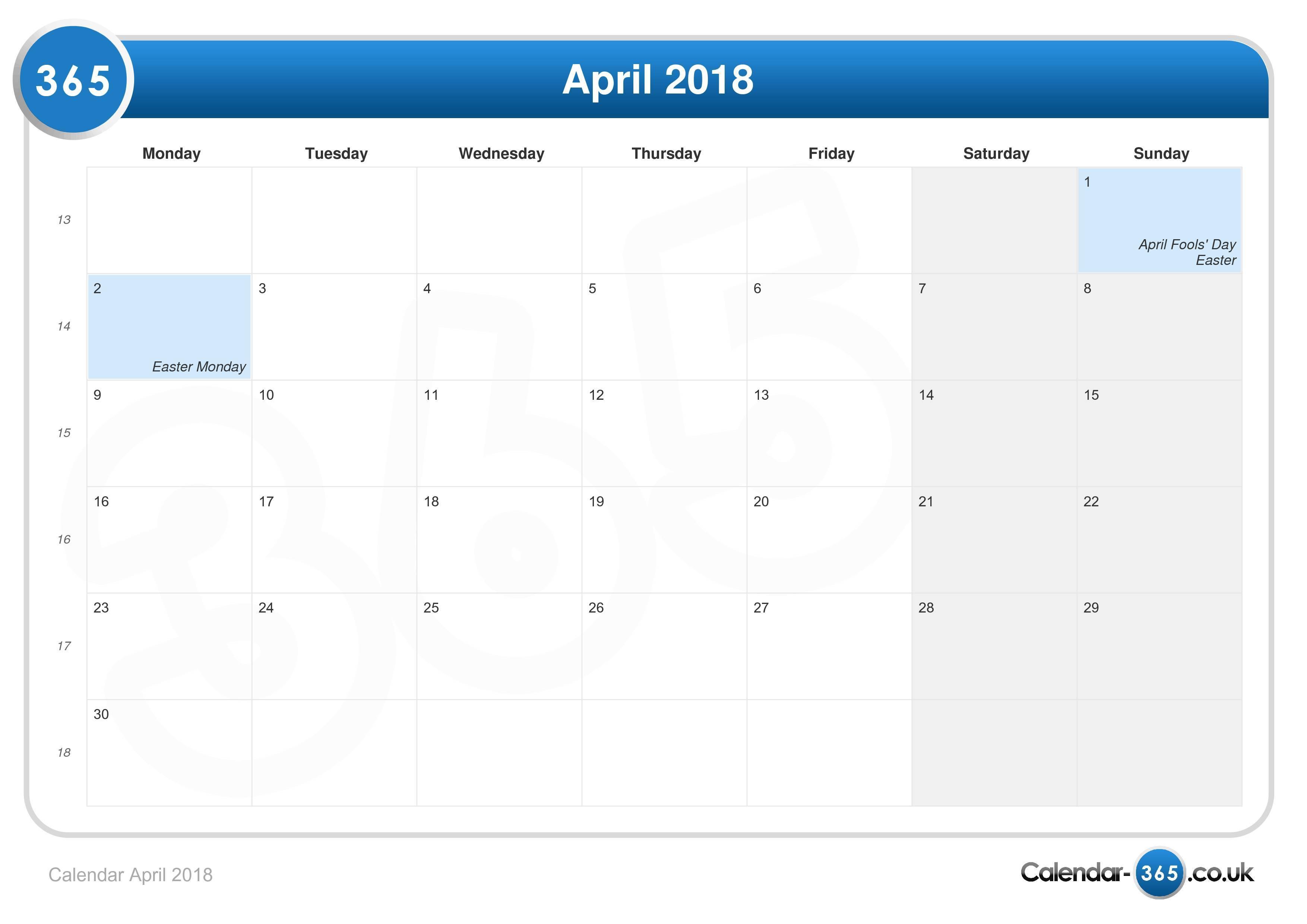 calendar april 2018jpg