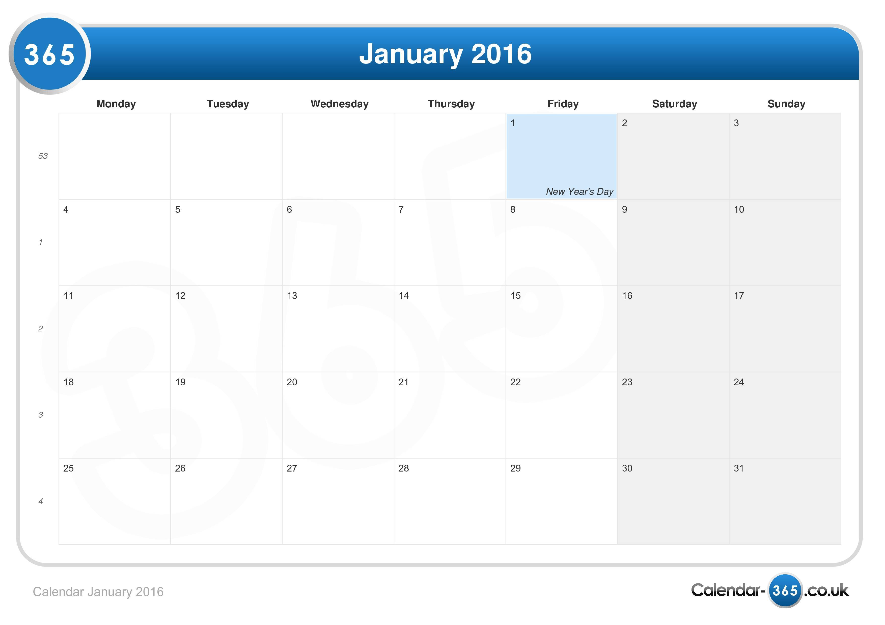 Calendar January 2016. Disney Vacation Planner Template Excel. View ...