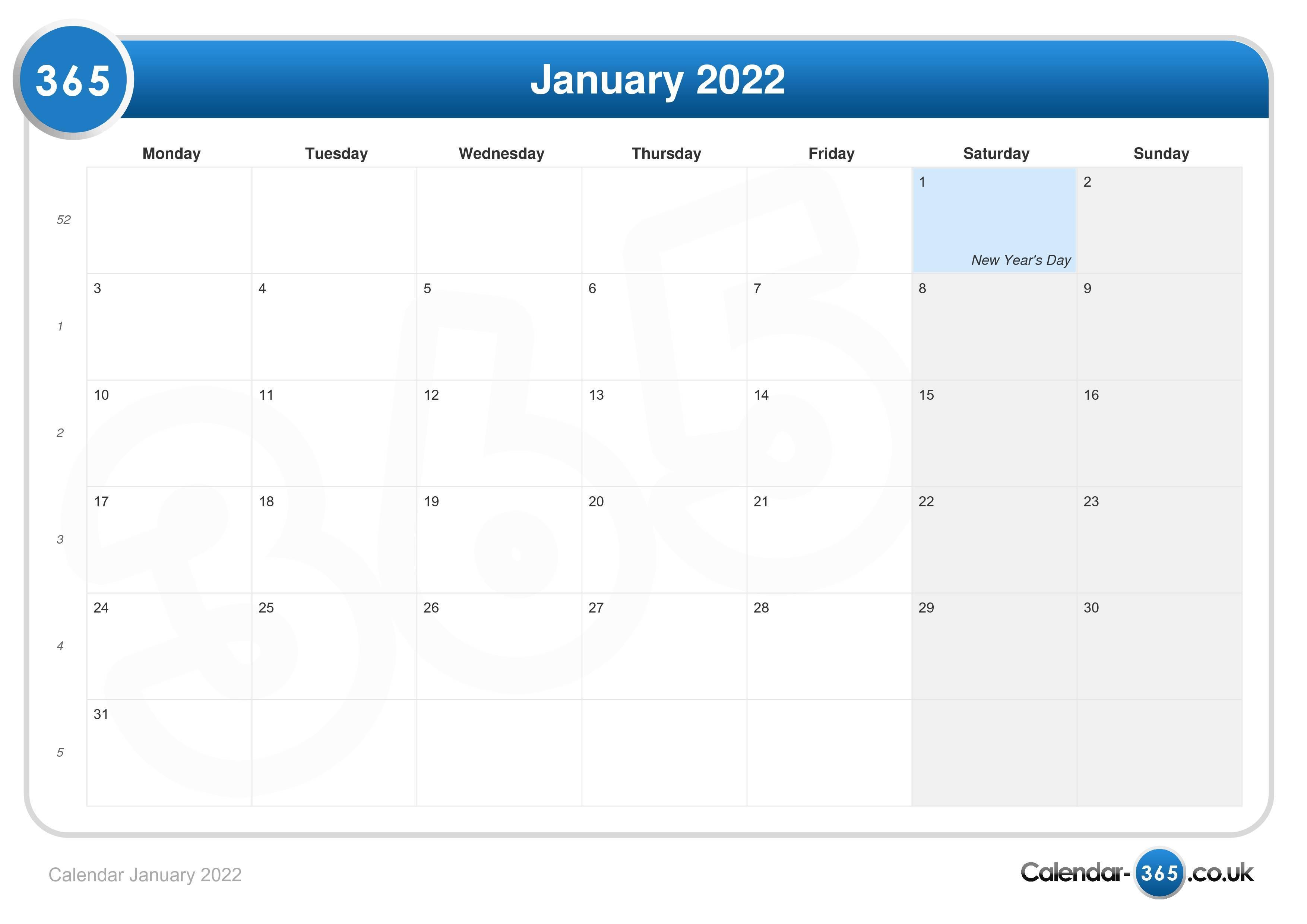 Lunar Calendar January 2022.Calendar January 2022