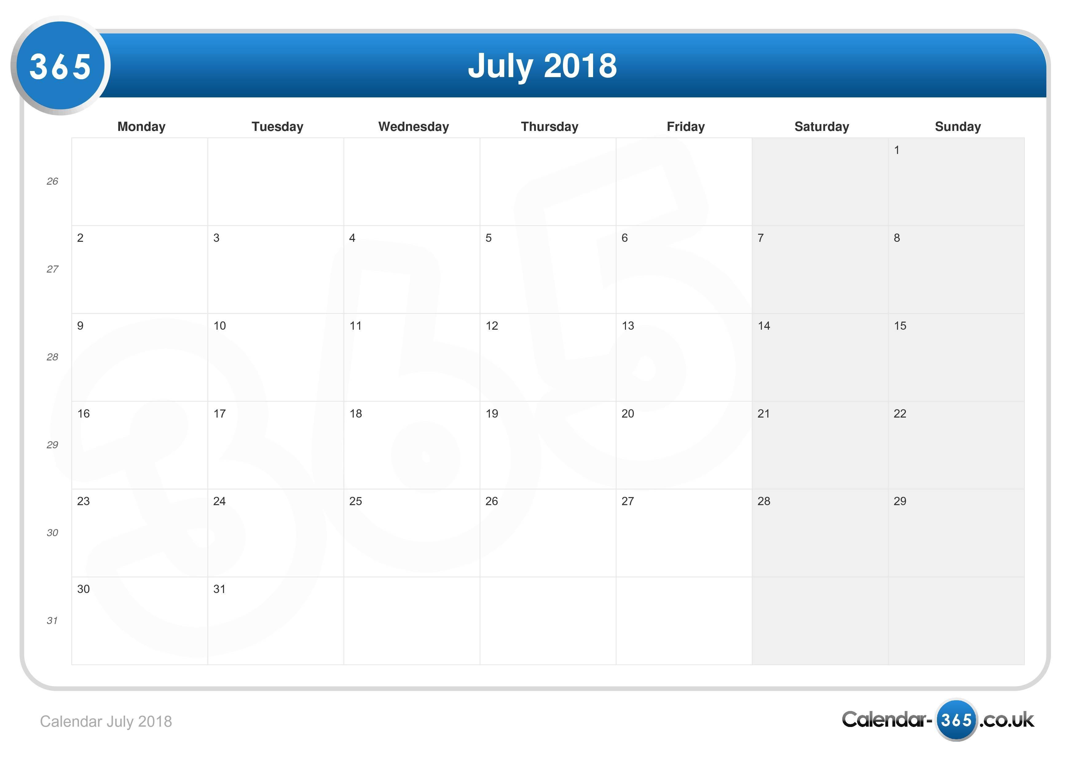 calendar 12 com 2018