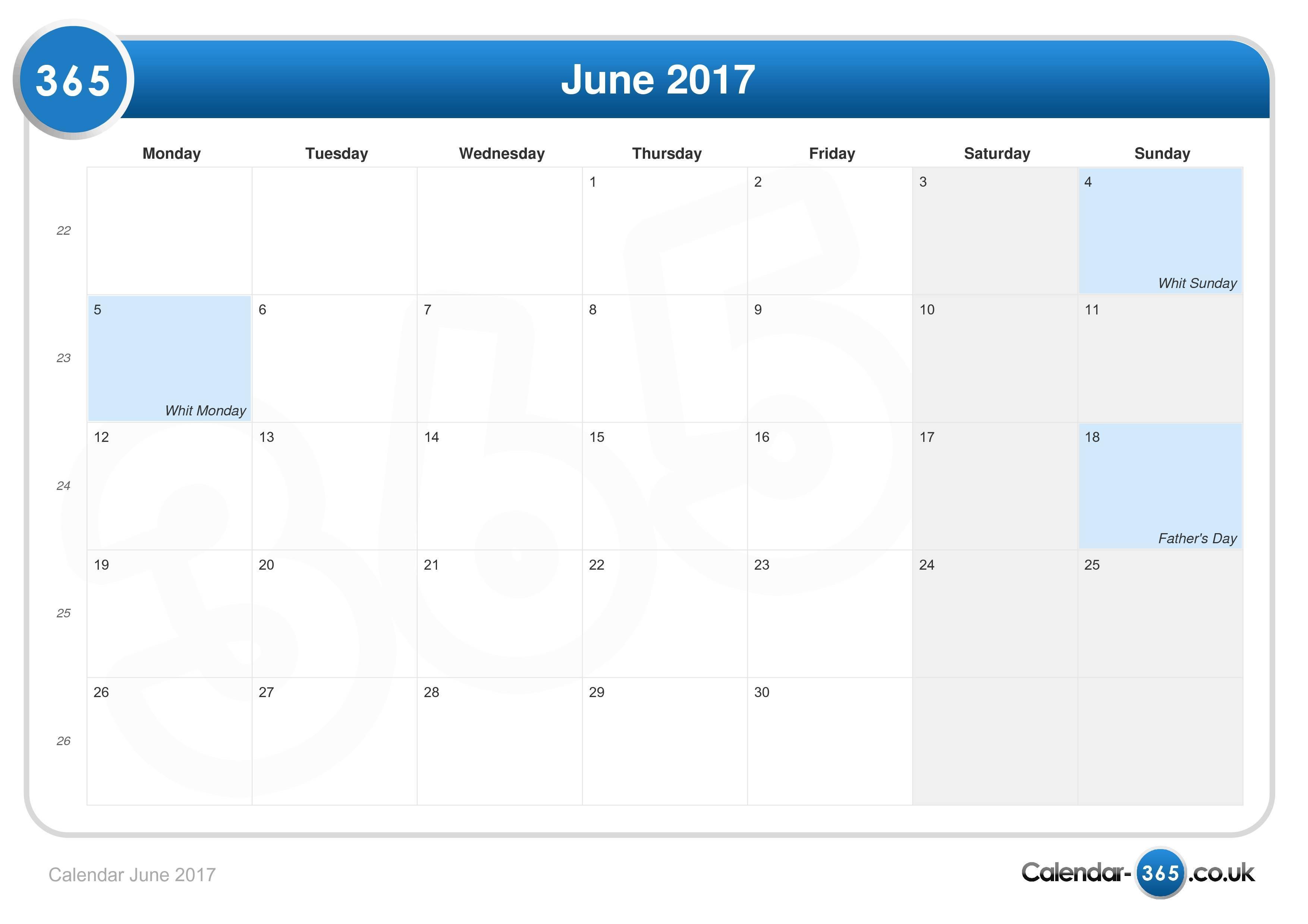 Calendar Events June Uk : Calendar june
