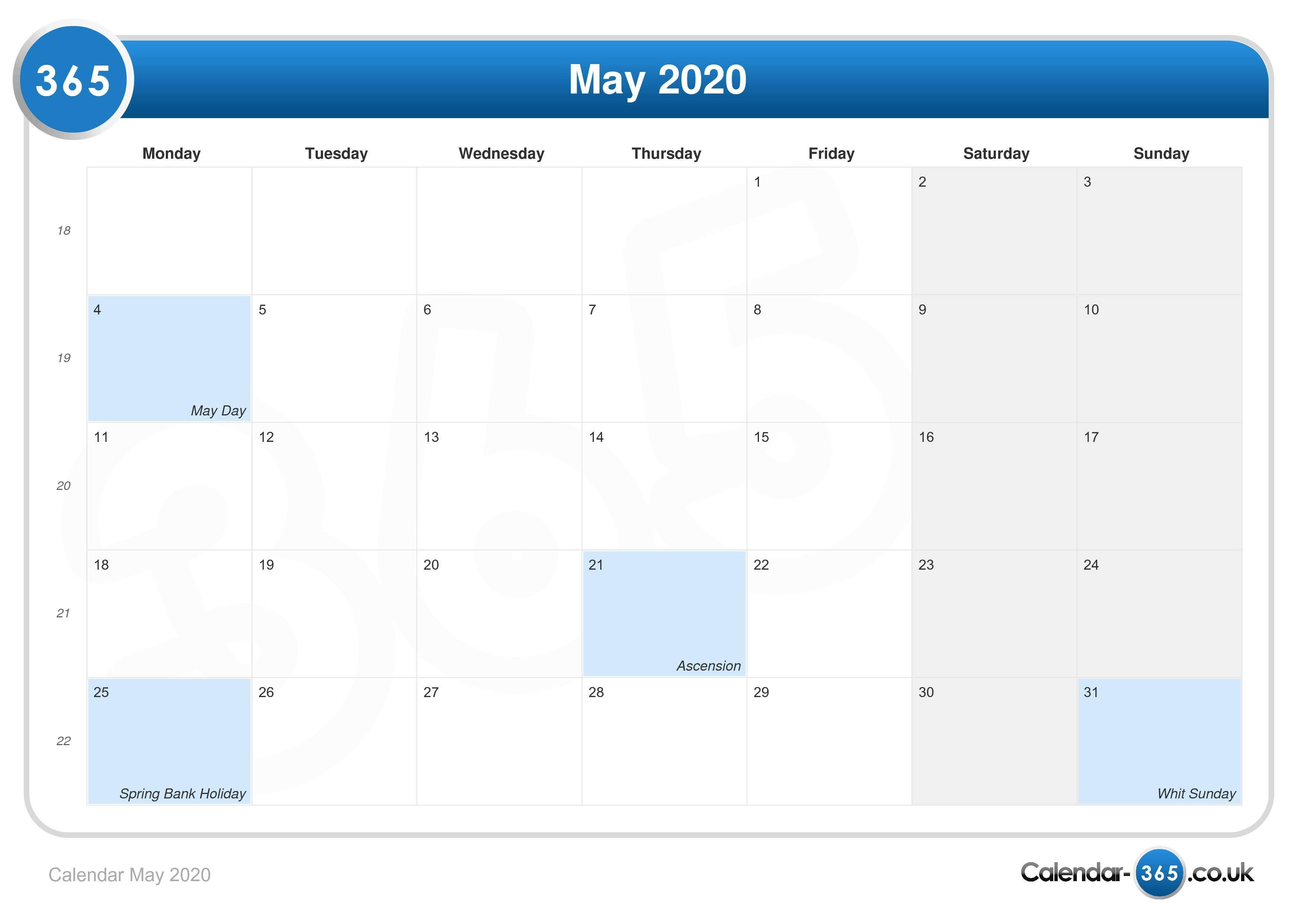 Calendar May Uk : Calendar may