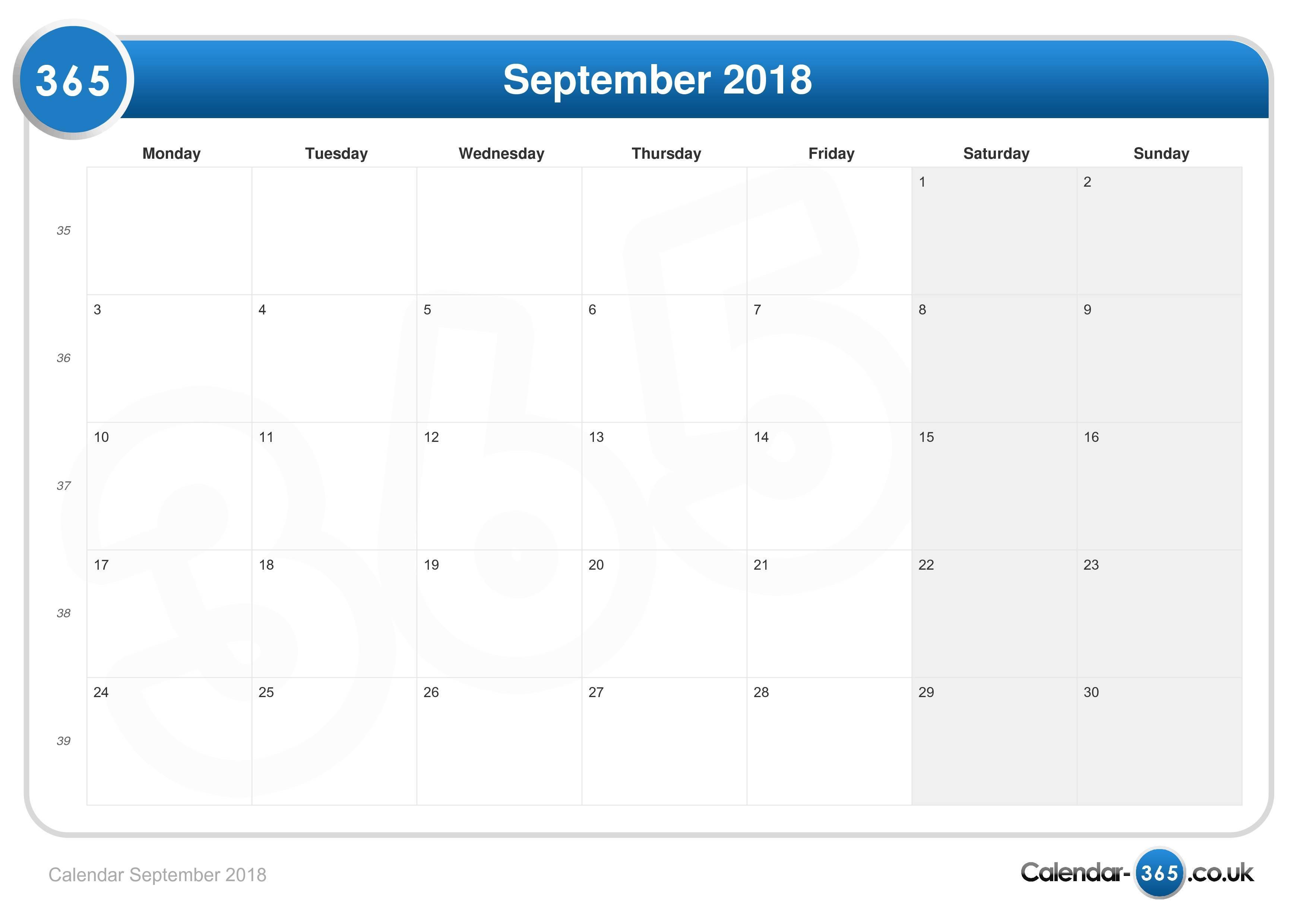Calendar 2019 Uk August